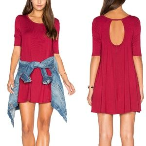 FREE PEOPLE Jacqueline Red Tunic Top Mini Dress S